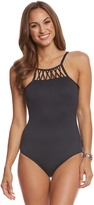 Seafolly Solid High Neck One Piece Swimsuit (DDCup) - 8158959