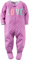 Carter's Girl Long-Sleeve Love Dot Footed Pajamas - Baby Girls newborn-24m