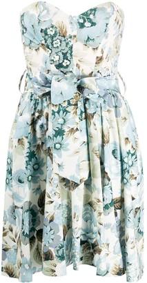 P.A.R.O.S.H. Floral Shift Mini Dress