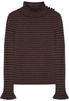 See by Chloe Striped Wool Sweater - Dark brown
