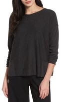 Eileen Fisher Women's Bateau Neck Merino Boxy Top