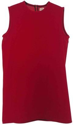 Maison Rabih Kayrouz Red Velvet Dresses