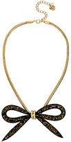 Betsey Johnson Mesh Bow Frontal Necklace