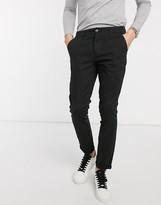 Asos Design DESIGN super skinny chinos in black