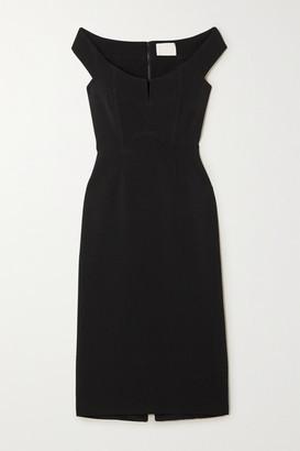 Dion Lee Off-the-shoulder Stretch-cady Bustier Dress - Black