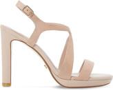 Dune Maya suede high heel sandals
