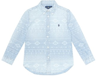 Polo Ralph Lauren Kids Southwestern chambray shirt