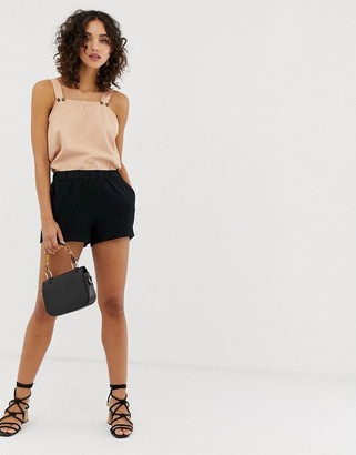 Vero Moda culotte shorts in black