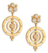 Temple St. Clair Celestial Diamond & 18K Yellow Gold Piccolo Tolomeo Drop Earrings