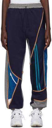 Ahluwalia Studio Grey and Navy Patchwork Jogger Lounge Pants
