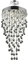 Everly Deidamia 9 - Light Unique / Statement Tiered Chandelier Quinn Crystal: Royal Cut