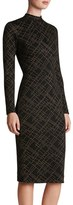 Dress the Population Women's Quinn Studded Knit Midi Dress