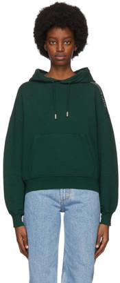Eckhaus Latta Green Classic Cropped Hoodie