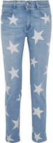 Stella McCartney The Skinny Printed Boyfriend Jeans - Light denim