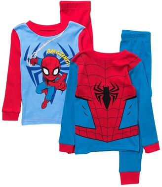 AME Marvel Spider-Man Print Cotton Pajama Set - Set of 2