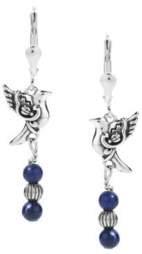 American West by Carolyn Pollack Sodalite Bird Dangle Earrings in Sterling Silver