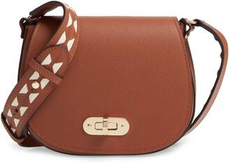 Serapian Milano Mini Luna Flag Leather Saddle Bag