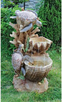 Wildon Home Resin Turtle Cove Cascading Sculptural Fountain with LED Light
