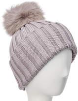 Adrienne Landau Wool Hat With Interchangeable Poms