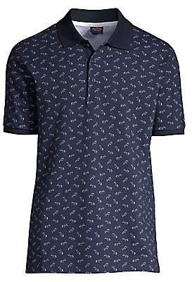 Paul & Shark Men's Allover Shark Cotton Polo