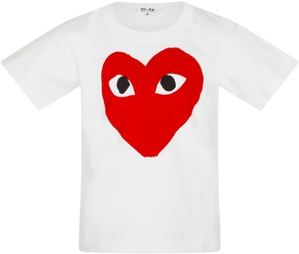 Comme des Garcons White T-shirt For Kids With Logo