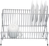 Kitchen Craft Dish Drainer - Chrome Plated - Small Fold Away 32.5cm x 28cm