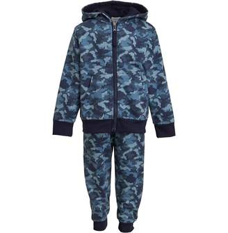 Kangaroo Poo Infant Boys Camo Print Jog Suit Blue Camo