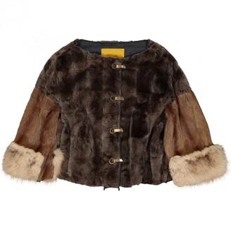 Lanvin Brown Fox Jacket for Women