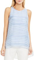 Vince Camuto Abstract Stripe High/Low Tank