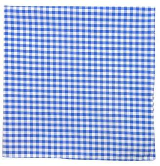 Proenza Schouler The Tie BarThe Tie Bar Serene Blue Novel Gingham Pocket Square