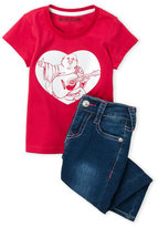 True Religion Toddler Girls) Two-Piece Tee & Jeans Set