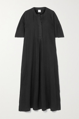 Max Mara + Leisure Arda Linen Midi Dress - Black