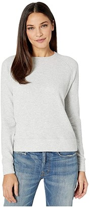 Vince Long Sleeve Raglan Pullover (Light Grey) Women's Clothing