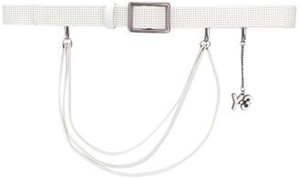 Yohji Yamamoto Pre-Owned 2000's logo charm perforated belt
