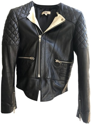 Rika Black Leather Coats