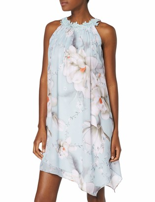 Dorothy Perkins Women's Taylor Trapeze Trim Dress-Pastel Print Party