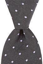 Hart Schaffner Marx Natte Dot Traditional Silk Tie