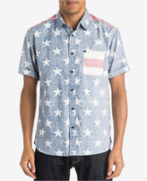 Quiksilver Men's American Star-Print Short-Sleeve Shirt