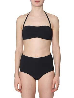 Tory Burch Solid Bandeau Swim Top