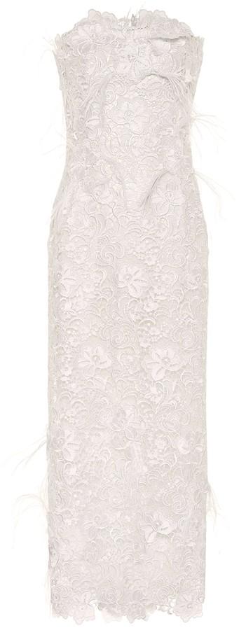 Costarellos Charabella guipure lace gown
