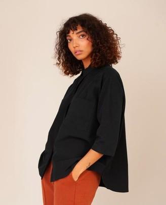 Beaumont Organic Stephanie Organic Cotton Shirt In Black - Black / Extra Small