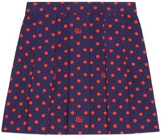Gucci Children's polka dot cotton skirt