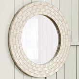 Round Laminated Capiz Mirror