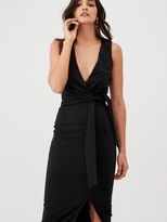 Very Knot Front Stretch Bodycon Dress - Black