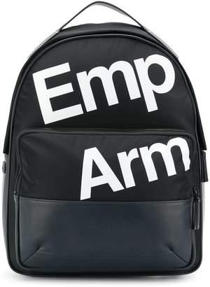 Emporio Armani logo printed backpack
