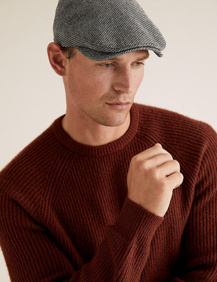 Marks and Spencer Dogstooth Flat Cap