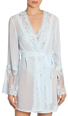 Jonquil Lace Trim Wrap Robe