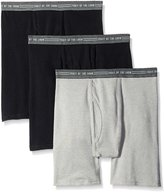 Fruit of the Loom Men's Everyday Active Black Gray Boxer Brief