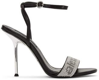 Alexander Wang Black Jane Crystal Sandals