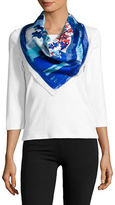 Vince Camuto Floral Silk Scarf